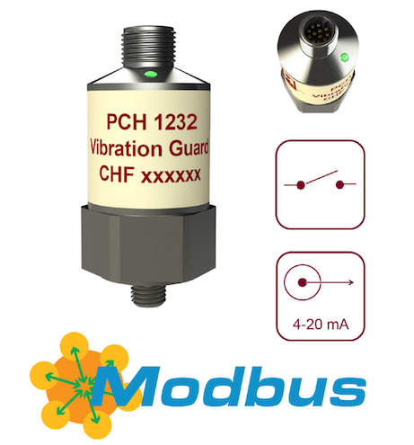 PCH 1232 compact temperature and vibration monitor with Modbus integration