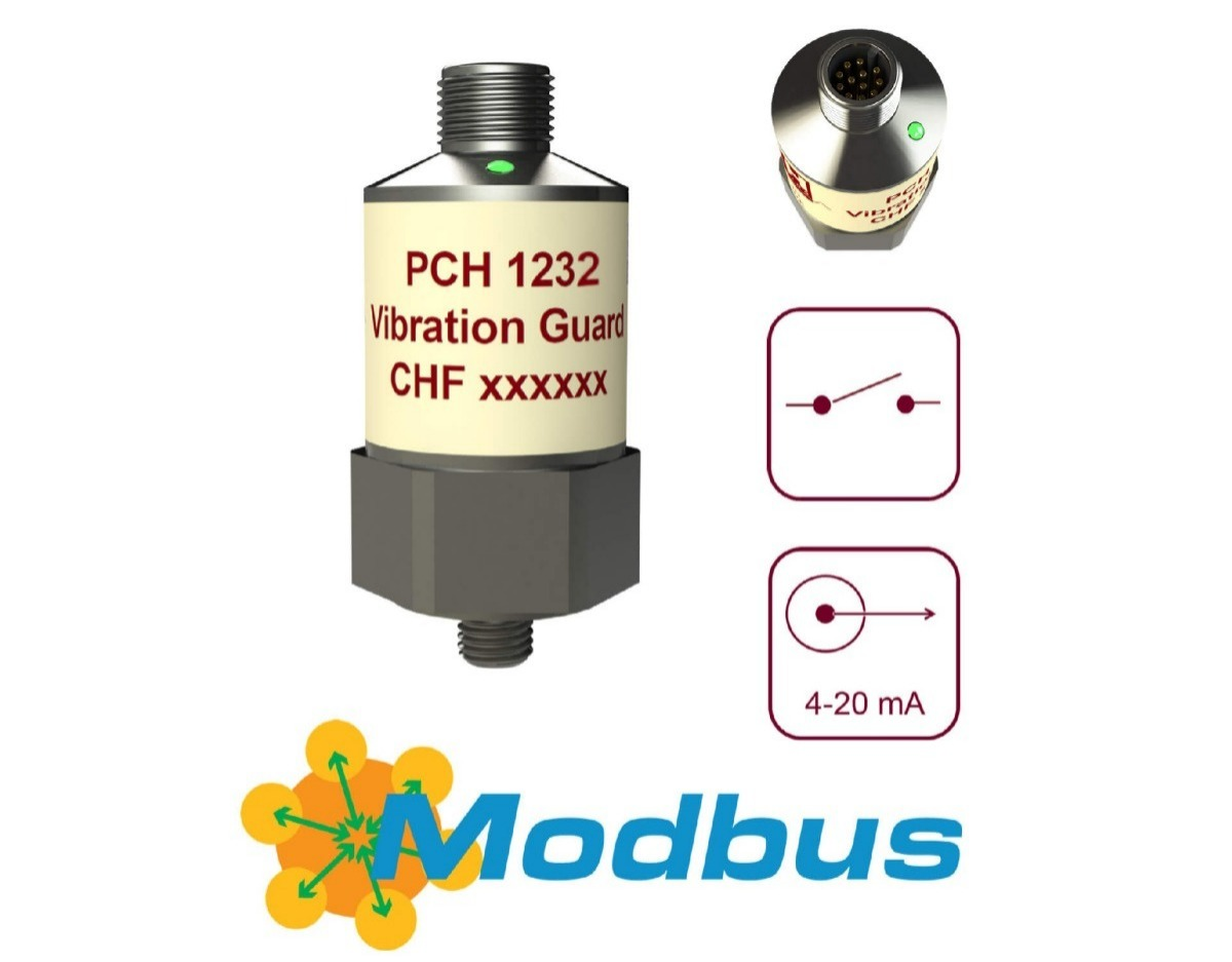 PCH 1232 vibration guard with Modbus RTU - ready for IoT